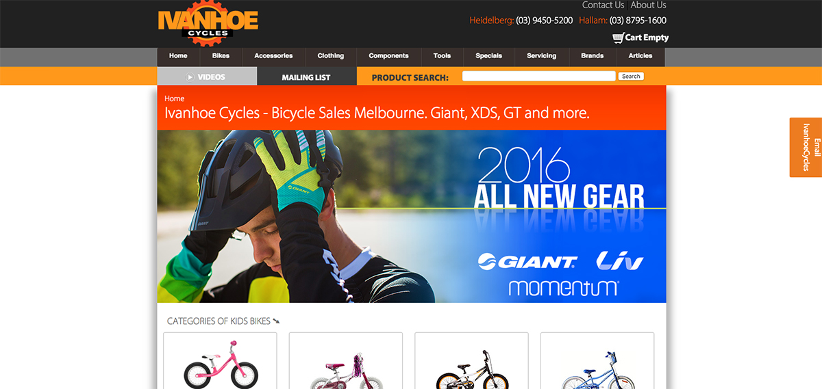 Ivanhoe Cycles Home Page