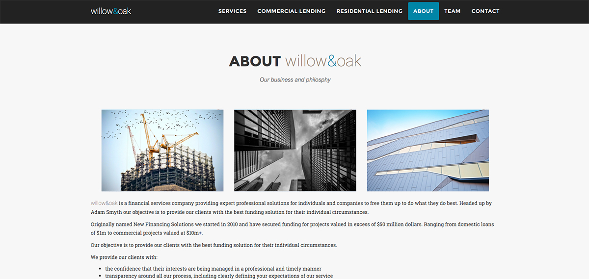 About Willow and Oak